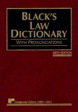 Black's Law Dictionary with Pronunciations, 6th Edition (Centennial Edition 1891-1991)