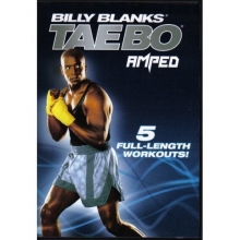 BILLY BLANKS TAE BO AMPED - 5 Workouts DVD Set - Jump Start Cardio, Fat Burn Accelerator, Full Throttle, Core Express & Live in LA