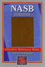 NASB Ultrathin Reference Bible, Brown/Diamond stamped cover