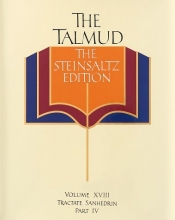 The Talmud, The Steinsaltz Edition, Volume 18: Tractate Sanhedrin Part IV